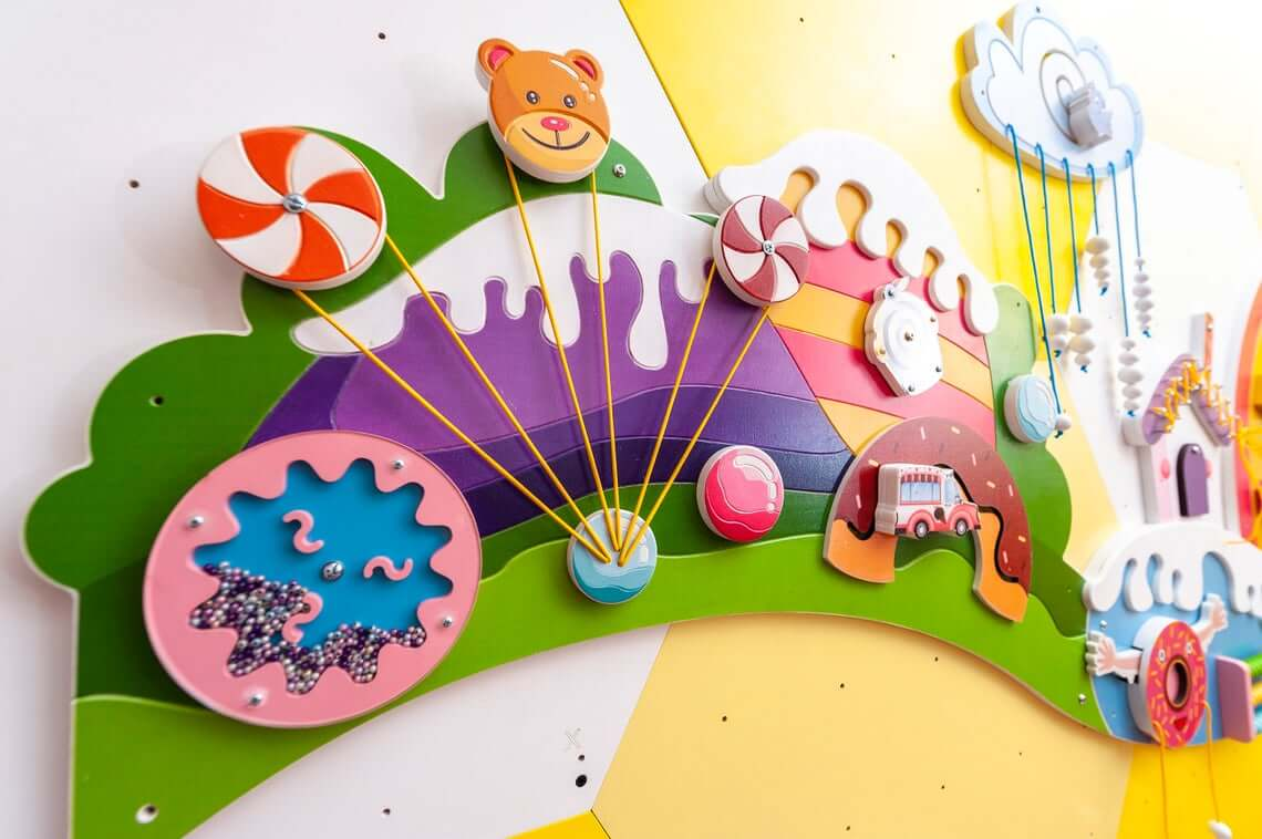 Candyland sensory wall