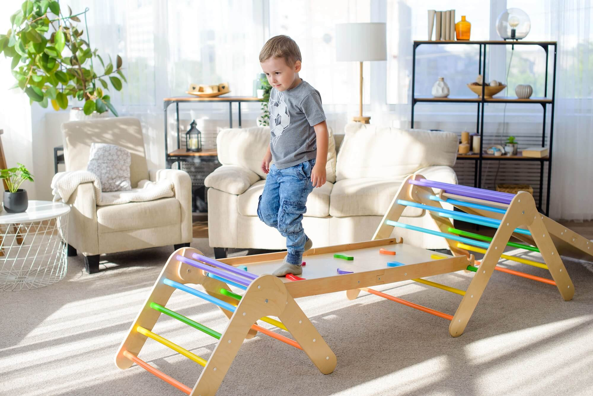 pikler triangles and a ramp